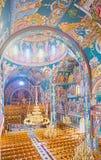 Die byzantinische Kirche Stockfotografie