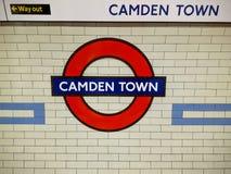Die Camden-Stadtbahnstation in London Lizenzfreie Stockfotografie