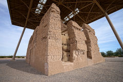 Die Casa großen hohokam Ruinen in Arizona stockbilder