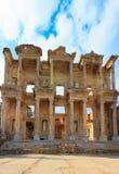 Die Celsus-Bibliothek alter Stadt Ephesus Lizenzfreies Stockbild