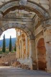 Die Celsus-Bibliothek alter Stadt Ephesus Stockfotos