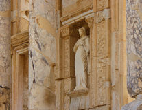 Die Celsus-Bibliothek alter Stadt Ephesus Stockbilder