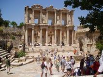 Die Celsus-Bibliothek die Türkei stockfoto