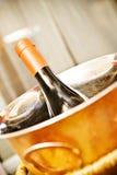 Die Champagnerflasche Lizenzfreies Stockfoto