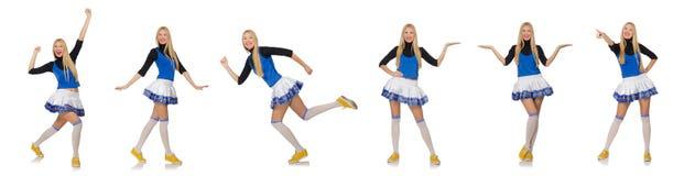 Die Cheerleader lokalisiert auf dem weißen Hintergrund Lizenzfreies Stockbild