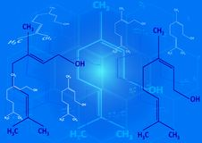 Die chemische strukturelle Formel von Spiritus Stockbilder