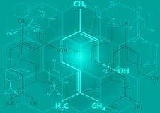 Die chemische strukturelle Formel von Spiritus Stockfotografie