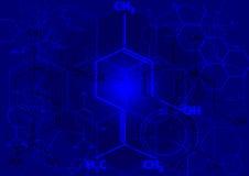 Die chemische strukturelle Formel von Spiritus Lizenzfreie Stockbilder