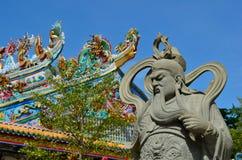 Die chinesische Krieger-Statue Stockfotografie