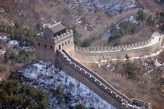 Die Chinesische Mauer in Badaling, China lizenzfreie stockfotografie