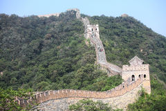 Die Chinesische Mauer bei Mutianyu Stockbilder