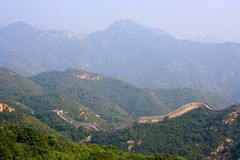 Die Chinesische Mauer, ein Standort Badaling Lizenzfreies Stockfoto