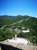 Die Chinesische Mauer im Porzellan stockfoto