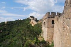 Die Chinesische Mauer von China bei Badaling Lizenzfreies Stockfoto