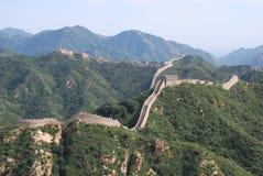 Die Chinesische Mauer von China bei Badaling Stockfotografie