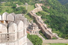Die Chinesische Mauer von Indien Stockfotos