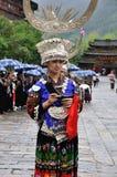 Die chinesische miao Dame Lizenzfreie Stockbilder