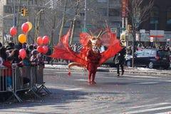 Die chinesische Mondparade 164 des neuen Jahr-2015 Lizenzfreie Stockbilder