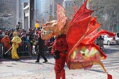 Die chinesische Mondparade 167 des neuen Jahr-2015 Lizenzfreies Stockbild