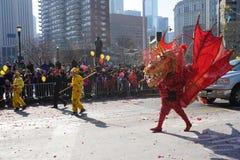 Die chinesische Mondparade 168 des neuen Jahr-2015 Stockfoto