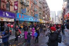 Die chinesische Mondparade 219 des neuen Jahr-2015 Stockbild