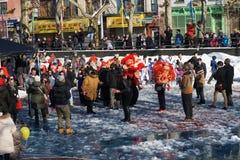 Die chinesische Mondparade 229 des neuen Jahr-2015 Stockfotos