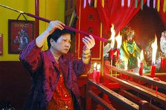 Die chinesische neues Jahr Feier in Kolkata-Indien Lizenzfreie Stockfotografie