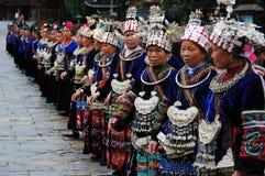 Die chinesisches miao alten Frauen Stockfotografie