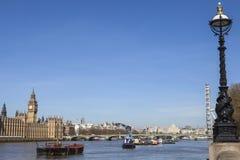Die City of Westminster in London stockbilder