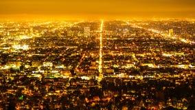 Die citylights von Los Angeles bis zum Nacht - Vogelperspektive lizenzfreie stockbilder