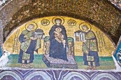 Die Comnenus Mosaiken stockbild