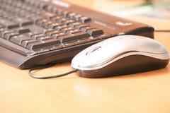 Die Computermaus und die Tastatur Stockfotos