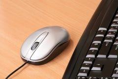 Die Computermaus und die Tastatur Stockbild