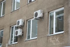 Die Conditioner auf der Wand Lizenzfreie Stockfotografie