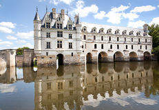 die coté Château-De-chenonceau Loire vallley Lizenzfreie Stockbilder