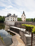 die coté Château-De-chenonceau Loire vallley Lizenzfreies Stockbild