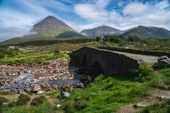 Die Cuillin-Berge, Insel von Skye, inneres Hebrides, Schottland, U lizenzfreie stockfotografie