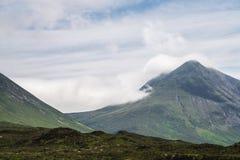 Die Cuillin-Berge, Insel von Skye, inneres Hebrides, Schottland, U lizenzfreies stockbild