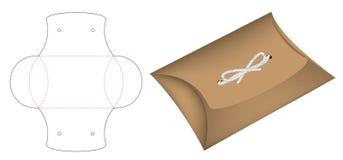 Die-cut 3d het malplaatjemodel van het hoofdkussenpak doos vector illustratie