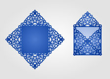 Die cut envelope template . Royalty Free Stock Images