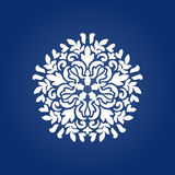 Die cut paper card with cutout mandala ornament. Royalty Free Stock Photography