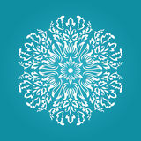 Die cut paper card with cutout mandala ornament. May be used for laser cutting or cutting machines. Laser cut vector mandala pattern. Stencil mandala stock illustration