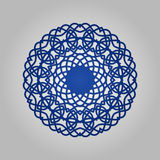 Die cut paper card with cutout mandala ornament. May be used for laser cutting or cutting machines. Laser cut vector mandala pattern. Stencil mandala royalty free illustration