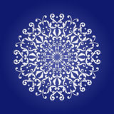 Die cut paper card with cutout mandala ornament. May be used for laser cutting or cutting machines. Laser cut vector mandala pattern. Stencil mandala vector illustration