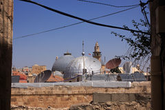 Die Dächer von altem Jerusalem Stockbild