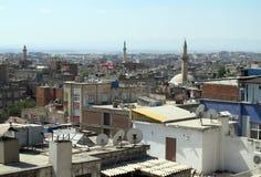 Die Dächer von Diyarbakir. Stockfoto