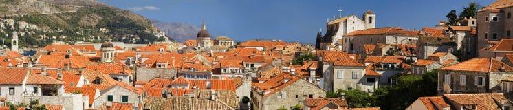 Die Dächer von Dubrovnik stockbild