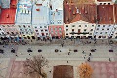 Die Dächer von Lvov, Ukraine Stockfoto