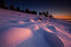 Die Dämme im Sonnenuntergang. lizenzfreie stockfotos