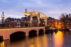 Dünne Brücke Amsterdam Lizenzfreies Stockbild